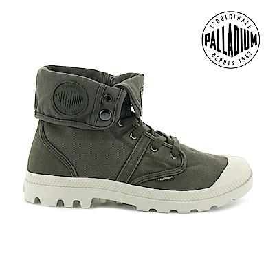 Palladium PALLABROUSE BAGGY帆布靴-男-深墨綠/白