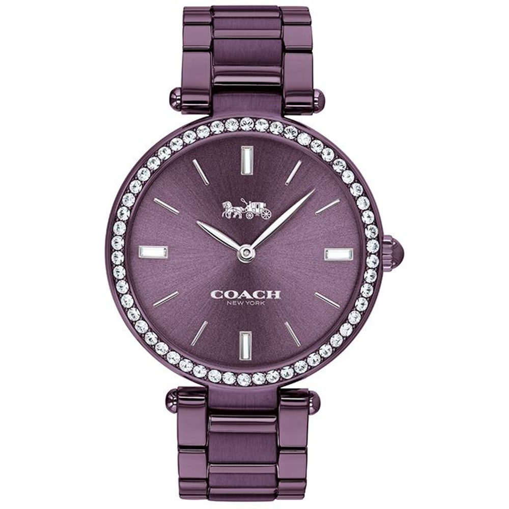 COACH 經典優雅迷人紫色腕錶34mm(14503422)