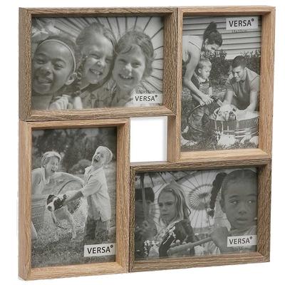 《VERSA》4格拼接木質相框(4x6吋)