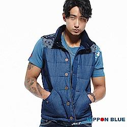 日本藍 BLUE WAY  日本藍和柄絲棉背心