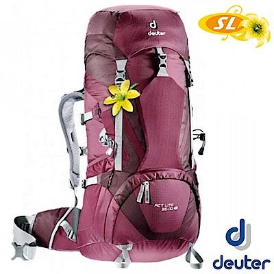 德國 Deuter 女 ACT Lite 35+10SL 登山健行耐磨透氣背包_紫/深紫