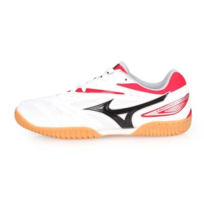 MIZUNO CROSSMATCH PLIO EV 男桌球鞋-乒乓球 白紅黑