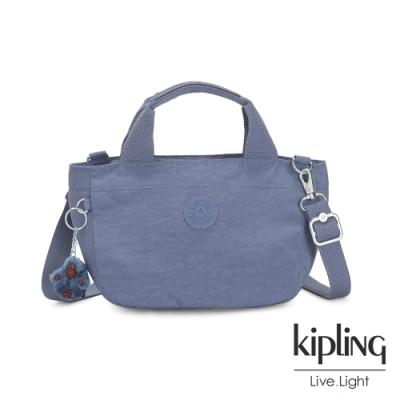 Kipling 氣質粉嫩藍手提兩用斜背包-SUGAR S