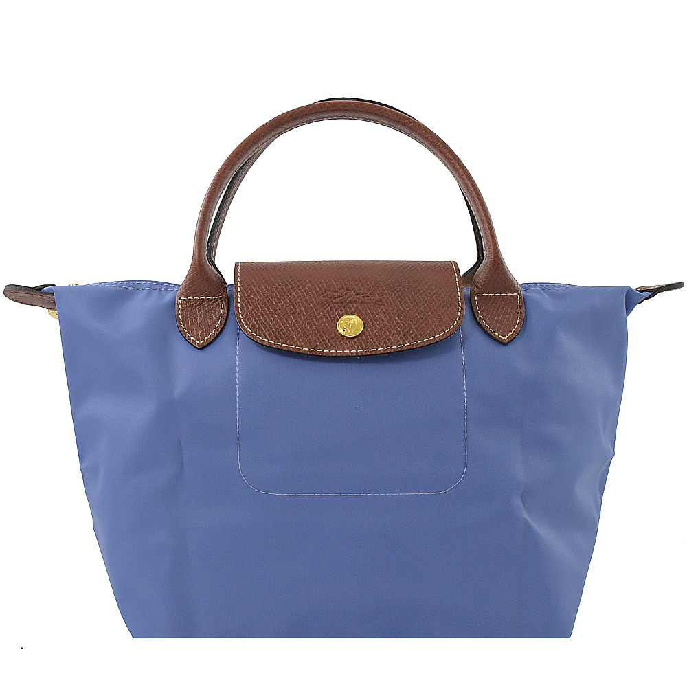 LONGCHAMP Le Pliage Nylon尼龍短把手提包(藍紫/S)