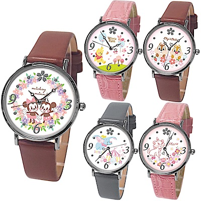 Diseny迪士尼櫻花季超薄輕量皮帶手錶(11款任選)