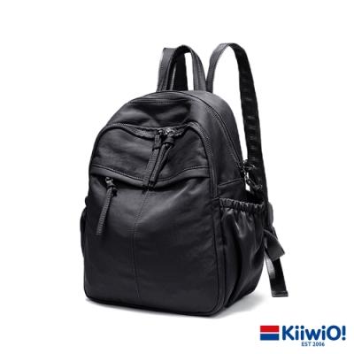 Kiiwi O! 微光澤防潑防刮輕量尼龍後背包 BROOK 黑
