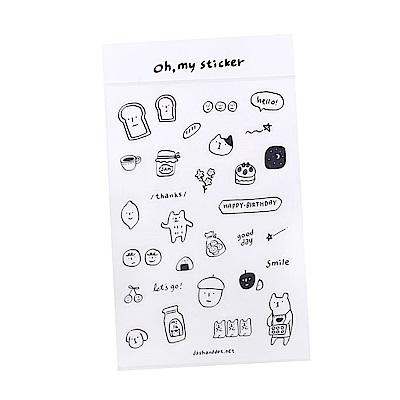 Dash and Dot 手帳日記裝飾透明貼紙-喔!我的貼