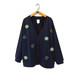 gozo 拼布風點點格紋開襟外套(三色)