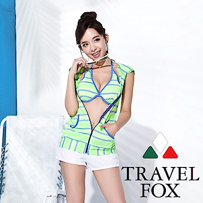 TRAVEL FOX 大女長版四件式泳衣