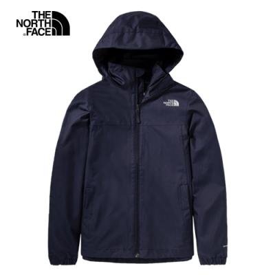 The North Face北面女款藍色防水透氣連帽衝鋒衣|4N9VRG1