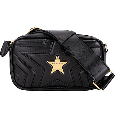 Stella McCartney Star 星型絎縫手拿腰包(黑色)