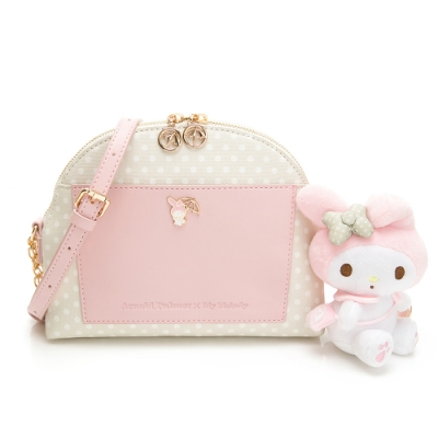 Melody聯名- 鏈帶貝殼包 泡泡派對系列-粉色