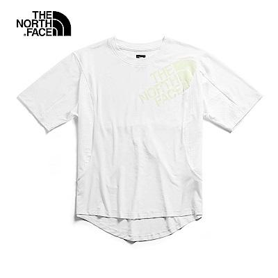 The North Face北面女款白色防曬透氣T恤|3V6NFN4