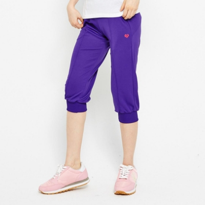 【FIVE UP】吸排針織七分褲-紫