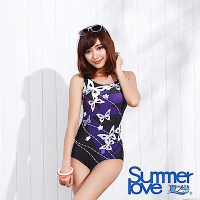 SUMMERLOVE 夏之戀 大女連身三角泳裝