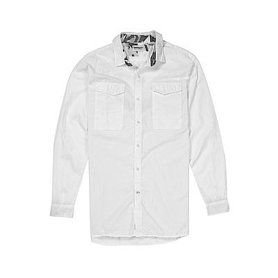 Timberland 男款白色迷彩長袖襯衫|A1NMR