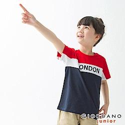 GIORDANO 童裝UNION JACK系列短袖T恤-03 高貴紅