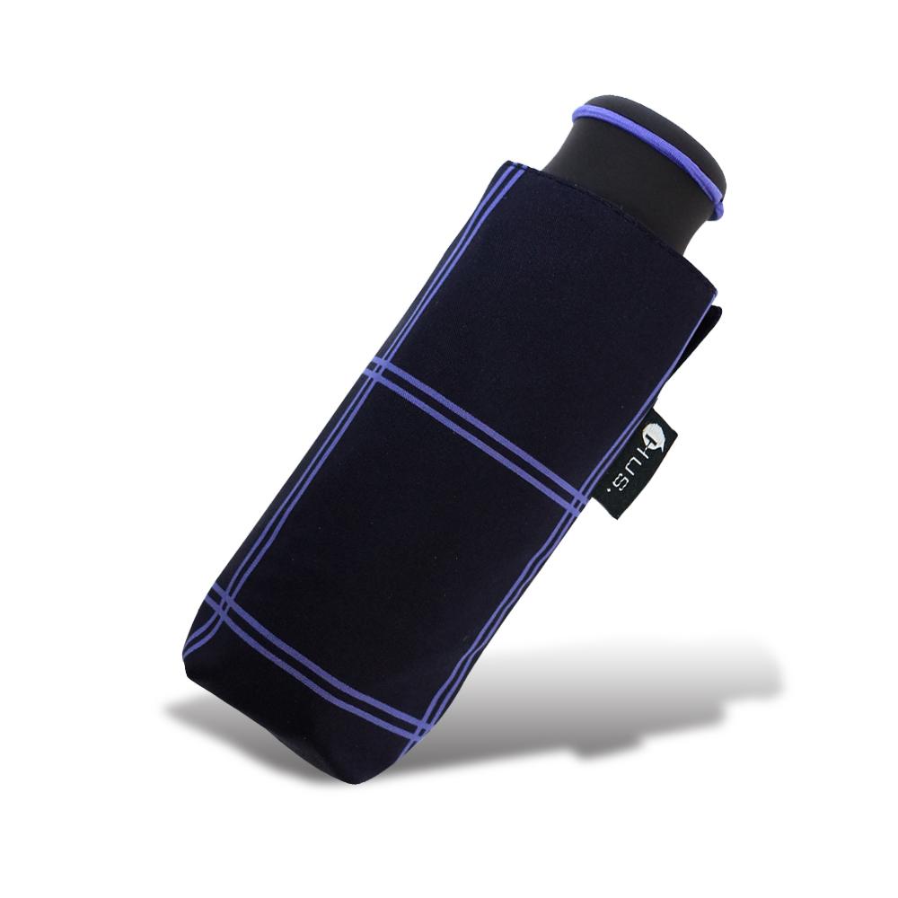 HUS 湛藍格紋抗UV迷你口袋傘
