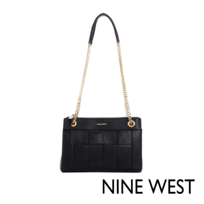 NINE WEST ELLIE編織鍊帶包-黑色(116811)