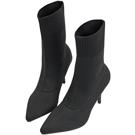 AIR SPACE 女王氣質尖頭針織襪靴(黑)