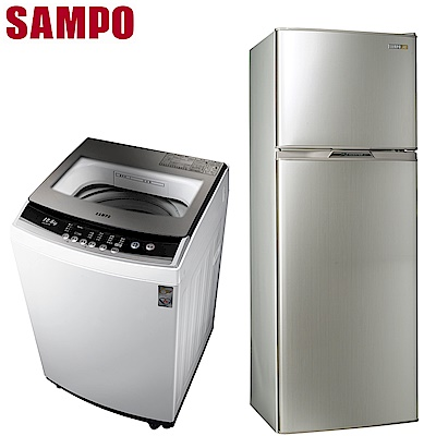 SAMPO聲寶 250L變頻冰箱SR-A25D   12.5KG定頻洗衣機ES-B13F