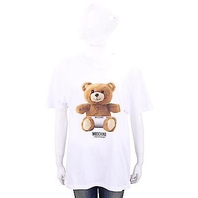 MOSCHINO Underwear 內褲泰迪熊寶寶白色寬版棉質T恤