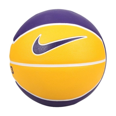 NIKE LEBRON PLAYGROUND 4P 7號籃球-室內外 訓練 N000278472807 黃紫