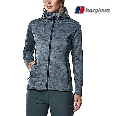 【Berghaus貝豪斯】女款連帽刷毛保暖外套H22F34灰色