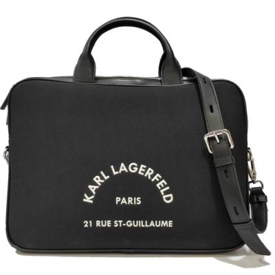 KARL LAGERFELD 卡爾 205M3243 RUE ST-GUILLAUME筆電/公事包(黑色)
