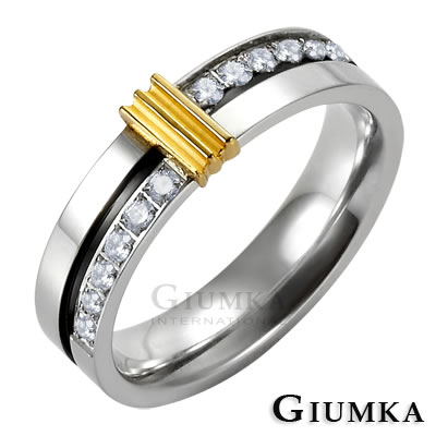 GIUMKA 唯愛情侶白鋼戒指 細版女戒