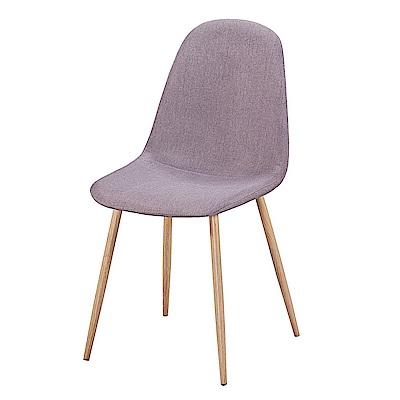 AS-艾文咖皮鐵藝餐椅-42x55x86cm