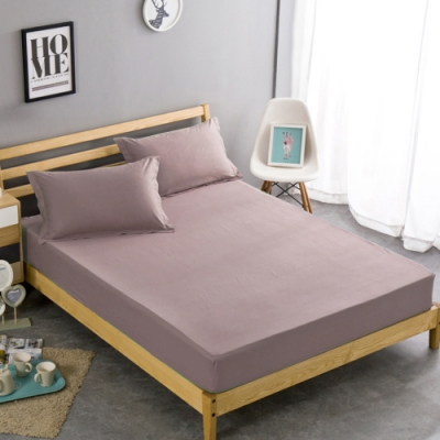 澳洲Simple Living 特大600織台灣製埃及棉床包枕套組(藕粉色)