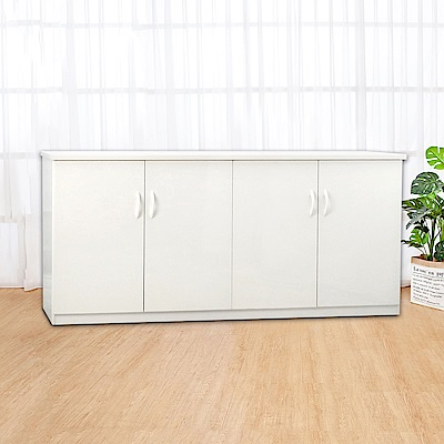 Boden-5.5尺四門防水塑鋼收納櫃/置物櫃(四色可選)-164x43x81cm