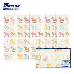 【PARKLON】韓國帕龍無毒地墊 - 攜帶型單面立體回紋摺疊墊 - 彩色木馬