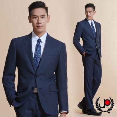 極品西服 高質感舒適仿毛底條紋西裝外套_藍點(AW606-3G)
