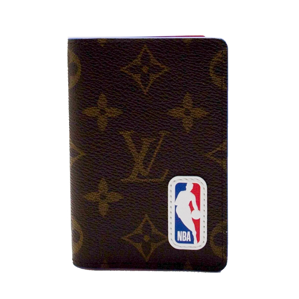 LV x NBA 聯名 限量 老花卡片夾 M80104