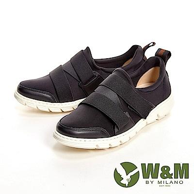 W&M 輕量透氣彈力帶休閒 女鞋-黑(另有紅、藍)