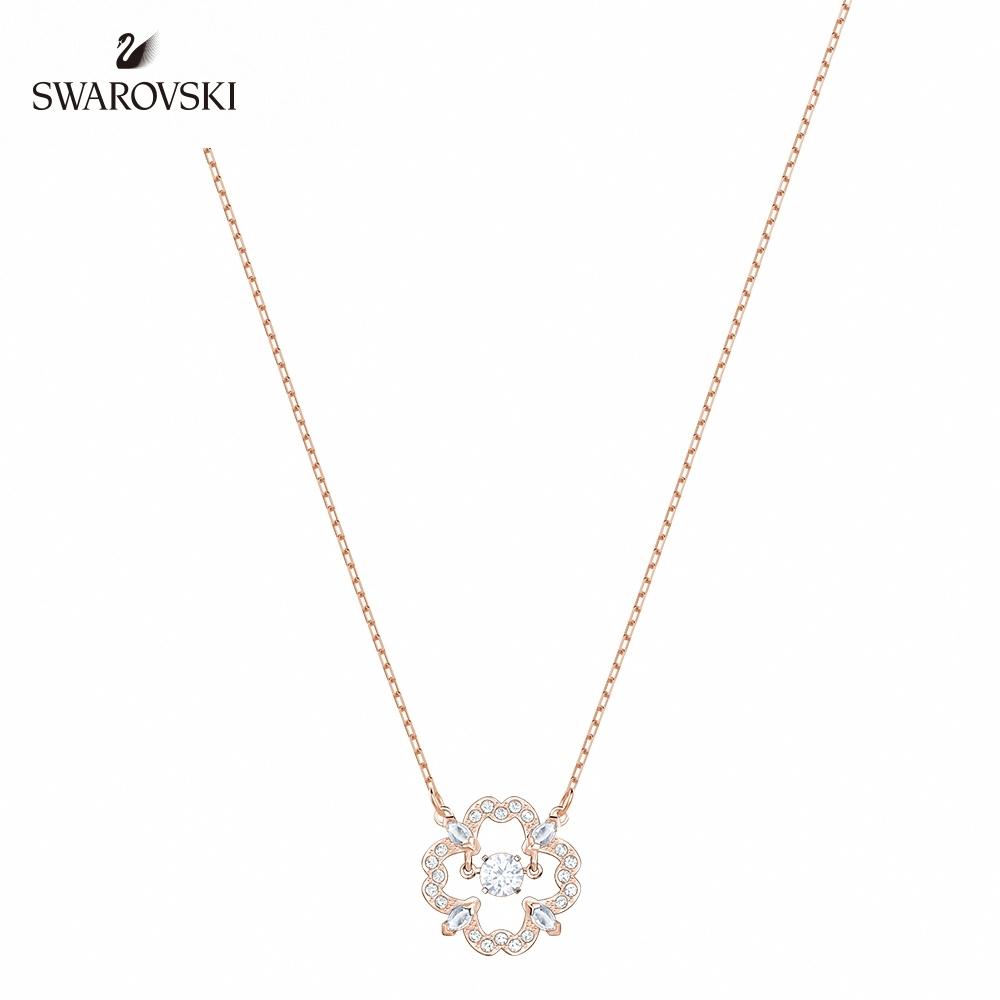 施華洛世奇 Sparkling Dance Flower 優雅迷人鍍玫瑰金色項鍊