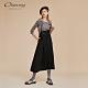 OUWEY歐薇 火箭燙鑽長版吊帶裙(黑) product thumbnail 1
