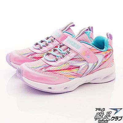 日本瞬足羽量競速童鞋 輕量競速款 4131-P粉(中大童段)