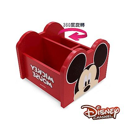 Disney 米奇 360旋轉收納盒 筆盒 筆桶 飾品盒 置物盒