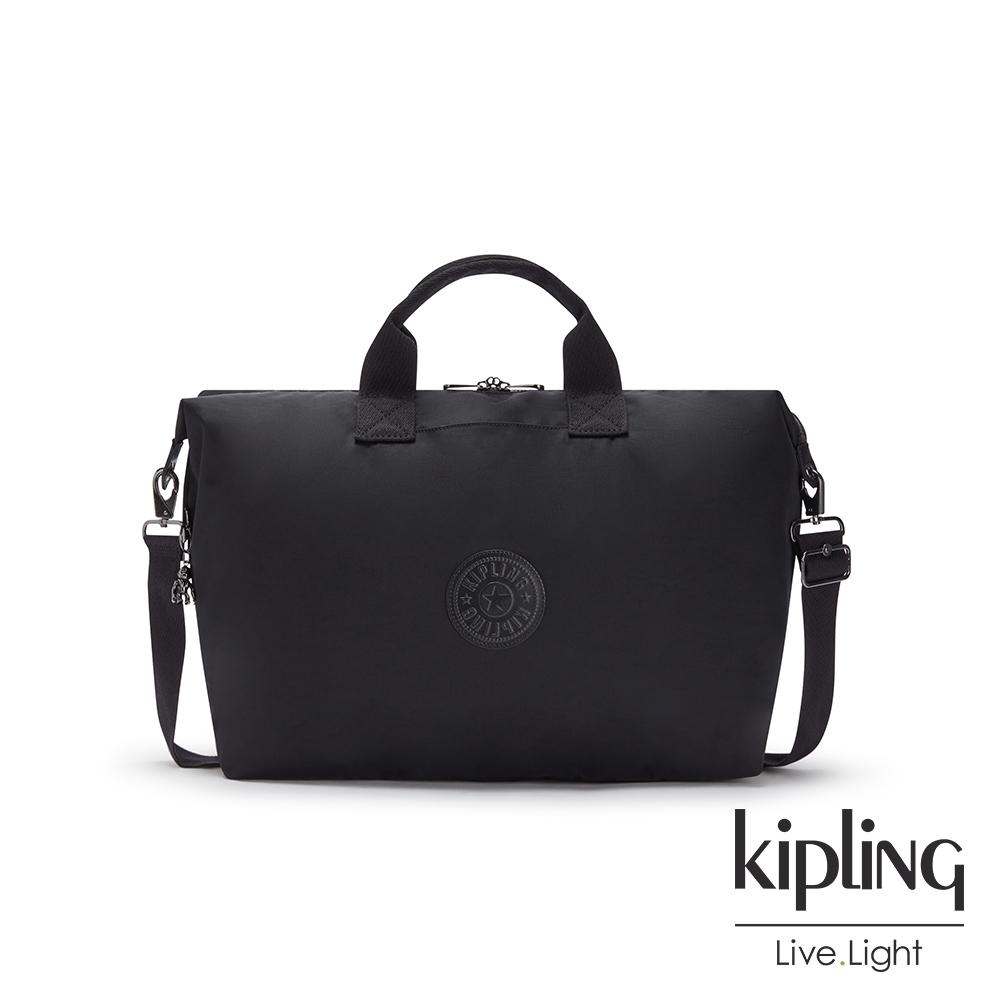 Kipling 極致低調黑大容量手提兩用包-KALA M
