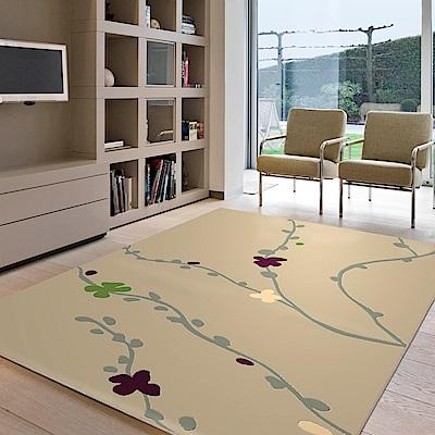 范登伯格 - 香榭 進口仿羊毛地毯 - 梅花 (棕 - 160 x 230cm)