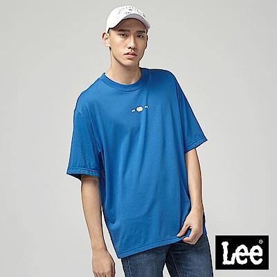 Lee AM PM短袖圓領TEE-藍