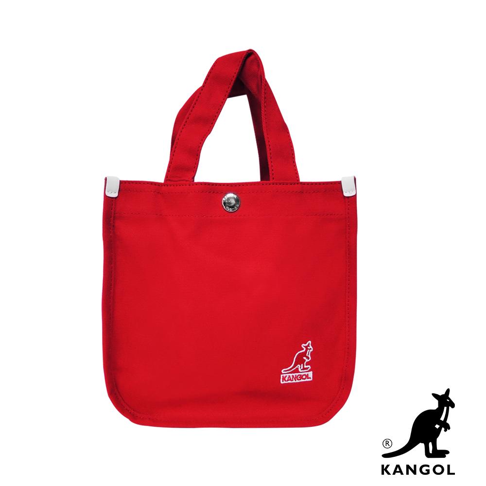 福利品 KANGOL 韓版極簡玩色-MINI帆布斜背小方包-棗紅