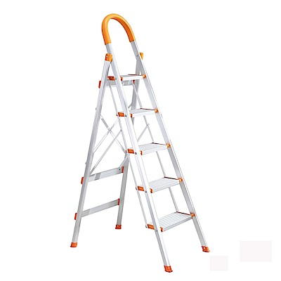 LOGIS邏爵 家用摺疊梯/五層梯/鋁製扶手梯/防滑梯/工作梯