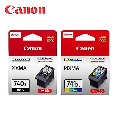 CANON PG-740XL + CL-741XL原廠高容量墨水匣組合(1黑1彩)