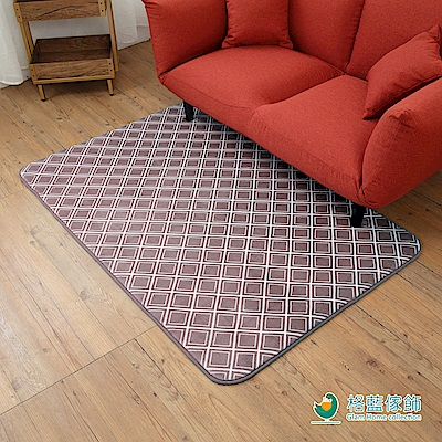 格藍傢飾-新潮流舒壓吸水防滑地毯-格紋咖