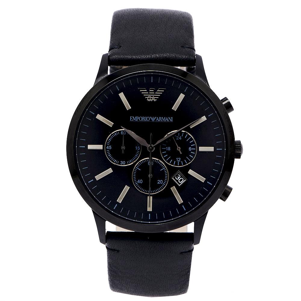 ARMANI Sportivo 極黑霸氣王者男性手錶 (AR2461) -黑面/46mm