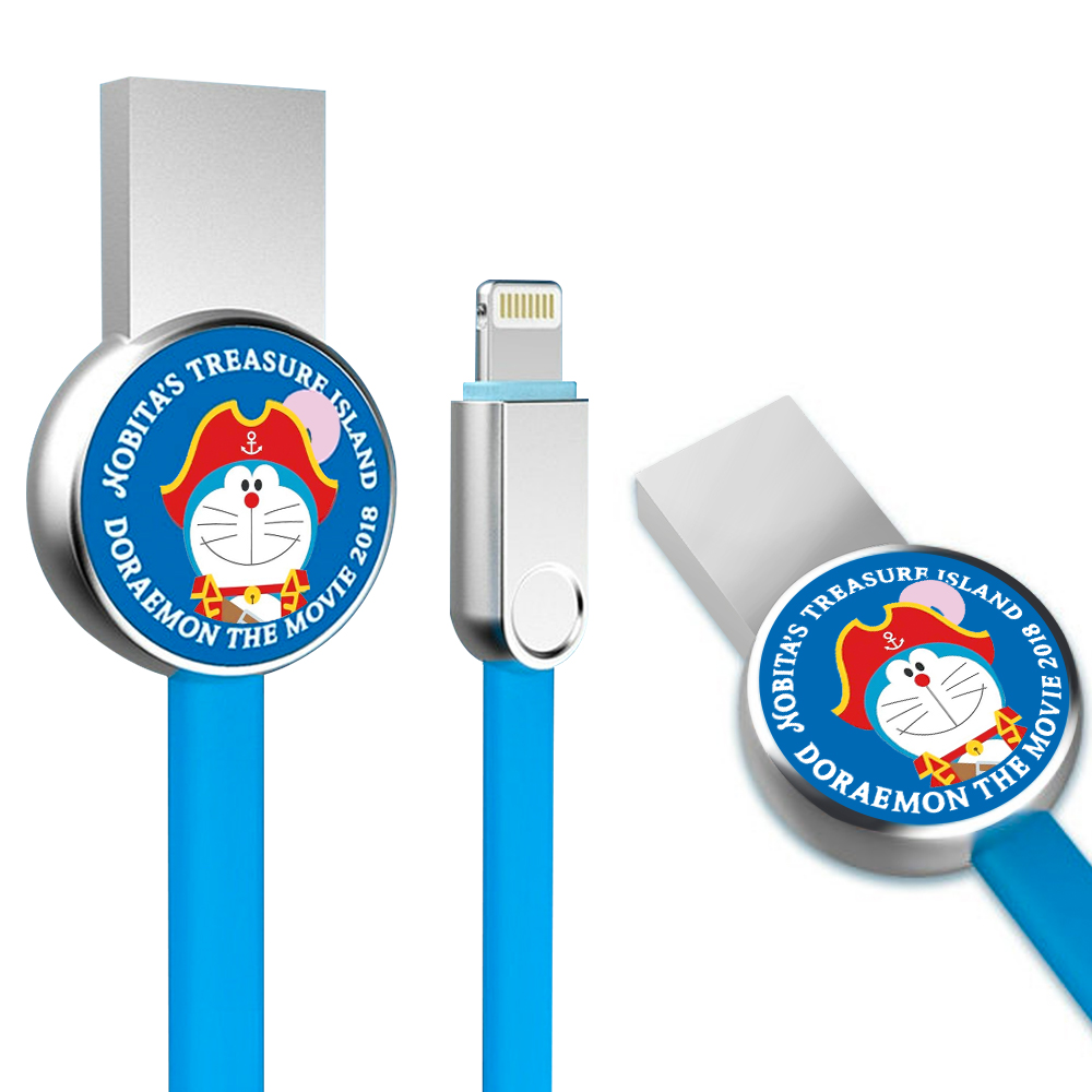 iStyle iPhone lightning 8 Pin 哆啦A夢 航海大冒險充電線